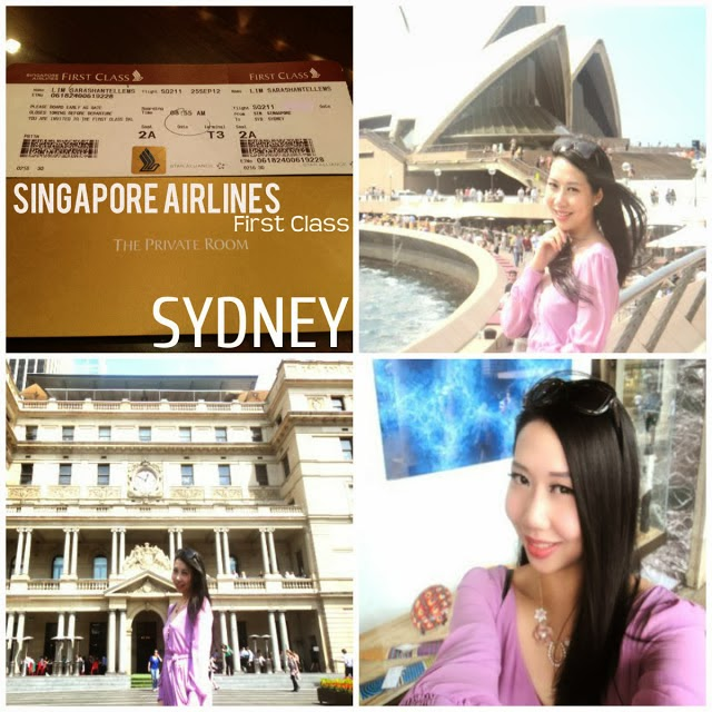 Singapore Airlines First Class Travel to Sydney to visit Lora Christelle