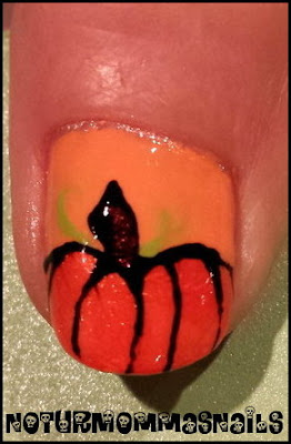 Pumpkin Nail Art