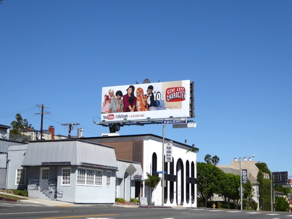 Lilly Singh You Tube billboard
