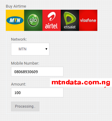 Buy airtime online with credit card