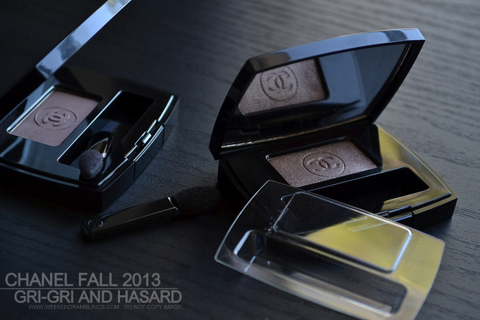 Chanel Ombre Essentielle Soft Touch Single Eyeshadows Gri-Gri Hasard Fall 2013 Superstition Makeup Collection Photos Swatches FOTD Review Looks Indian Darker Skin Beauty Blog