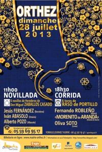 #Novillada et #corrida #orthez 2013 #béarn