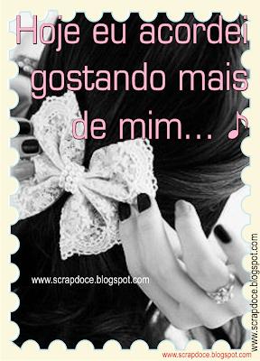 Foto Mensagem de Amor Próprio/Músicas para Compartilhar no Facebook