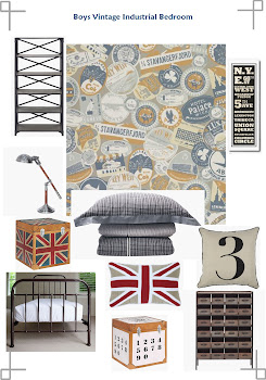 Boys Vintage Industrial style bedroom