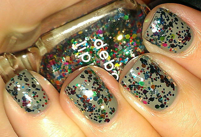 multi color hex glitter