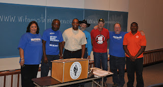 Five exonerated Death Row inmates recently visited the College of Criminal Justice.
