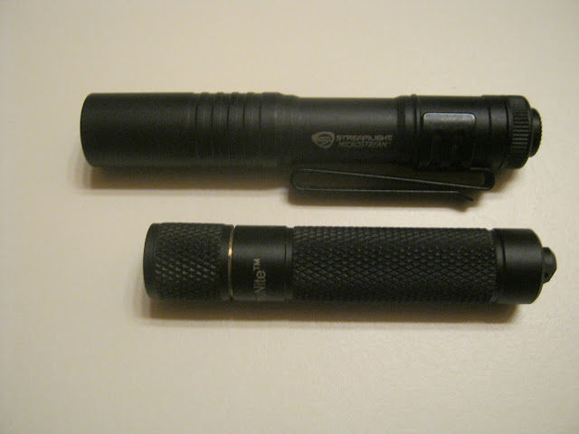 Streamlight Microstream AAA Flashlight shown with Thrunite Ti