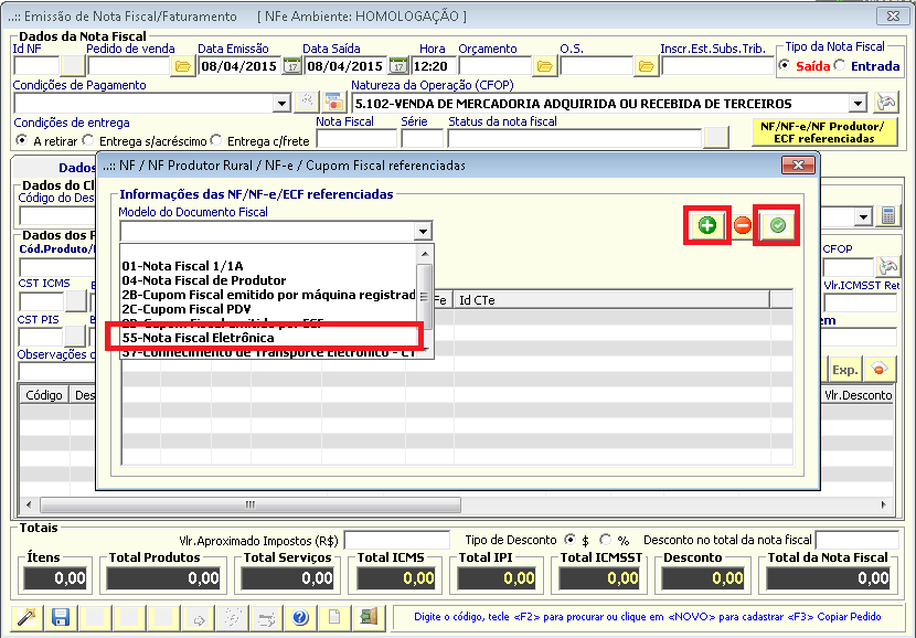 NeXT ERP 1.7.8 NF-e 3.10 devolução