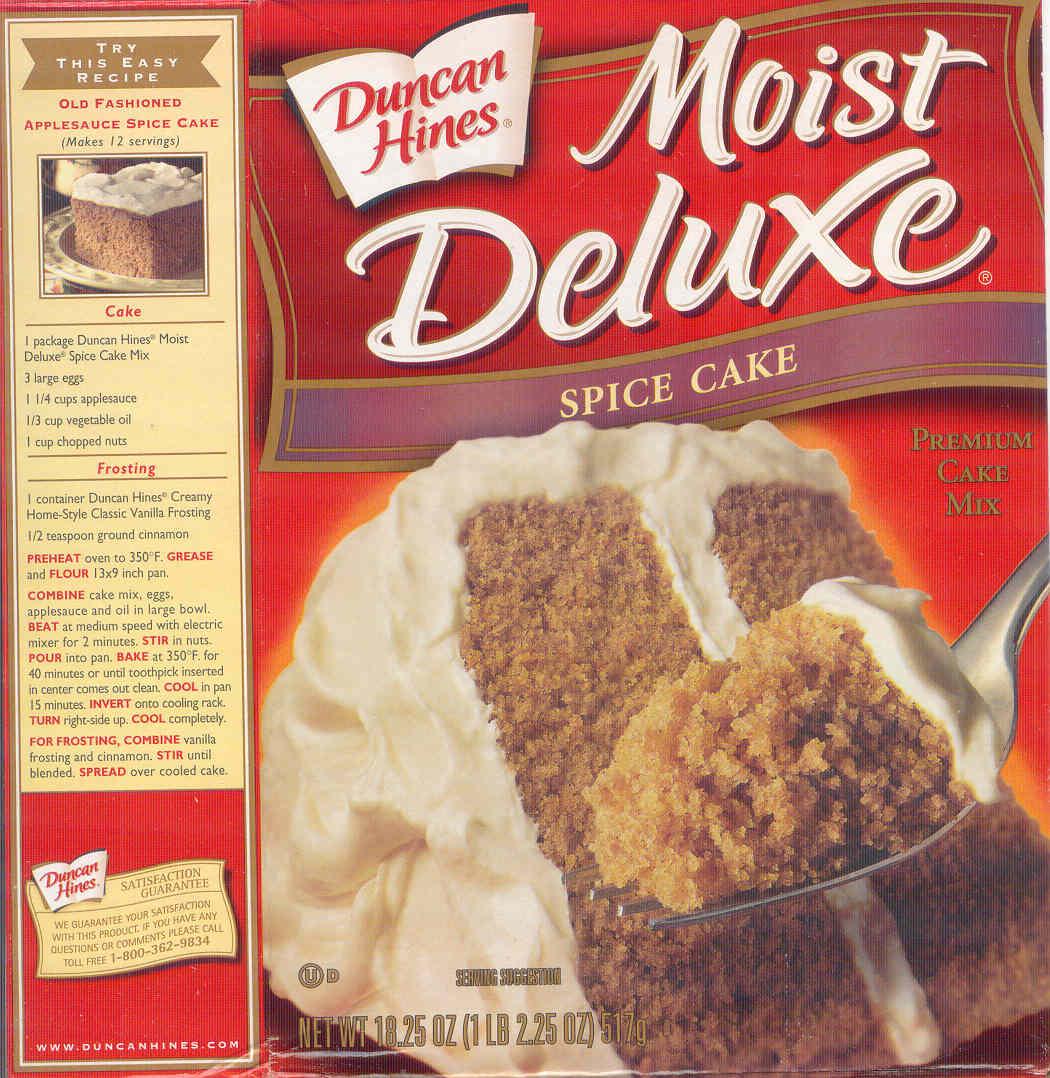 Applesauce Spice Cake Duncan Hines