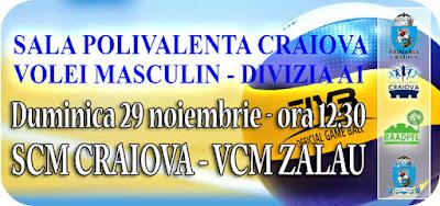 SCM Craiova joaca cu VCM Zalau
