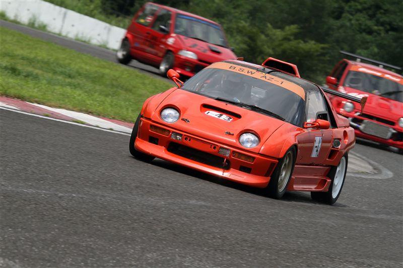 Autozam AZ-1, sportowy kei car, silnik umieszczony centralnie, tuning, wyścigi, japońska motoryzacja