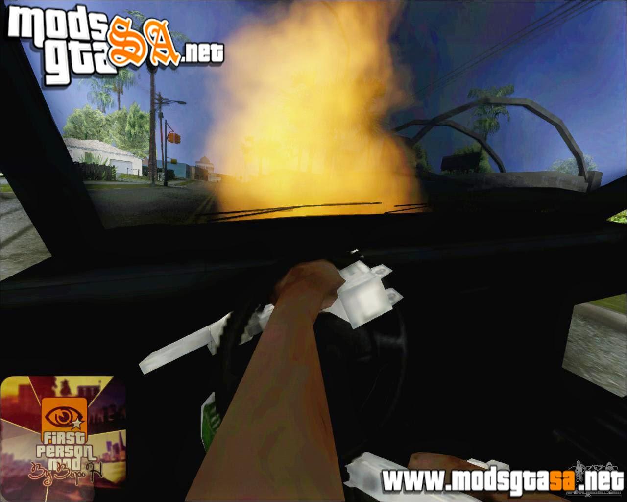 SA - Mod Andando em Carros Destruídos