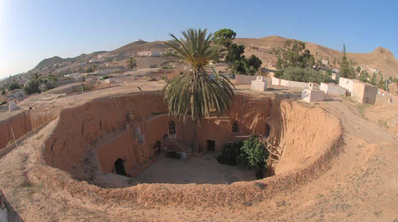 La arquitectura vernacular de las casas trogloditas de Matmata