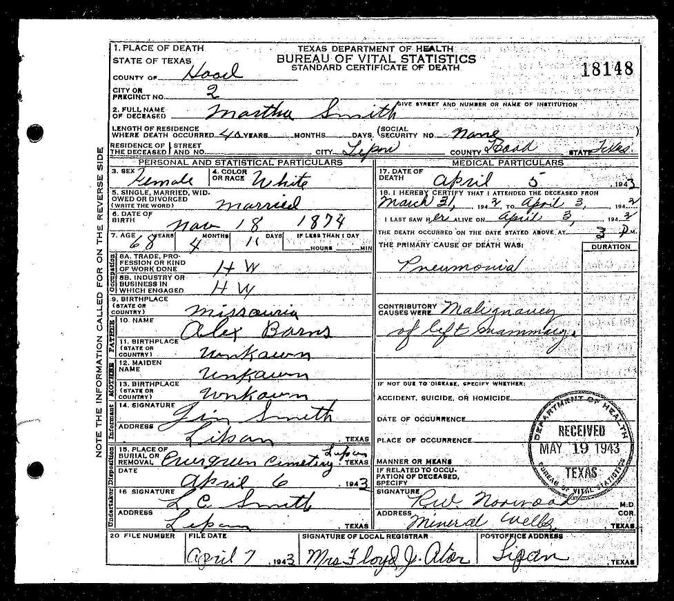 Thoughts from pollys granddaughter will the real descendants of information was provided by her husband james m smith who she married october 30 1895 per ripley county missouri marriage records 1betcityfo Image collections