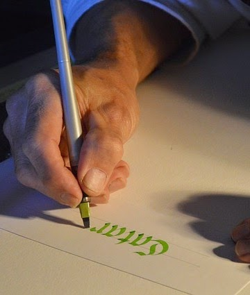 Writing In Calligraphy