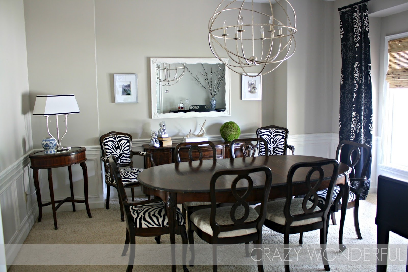 Crazy Wonderful: dining room molding reveal