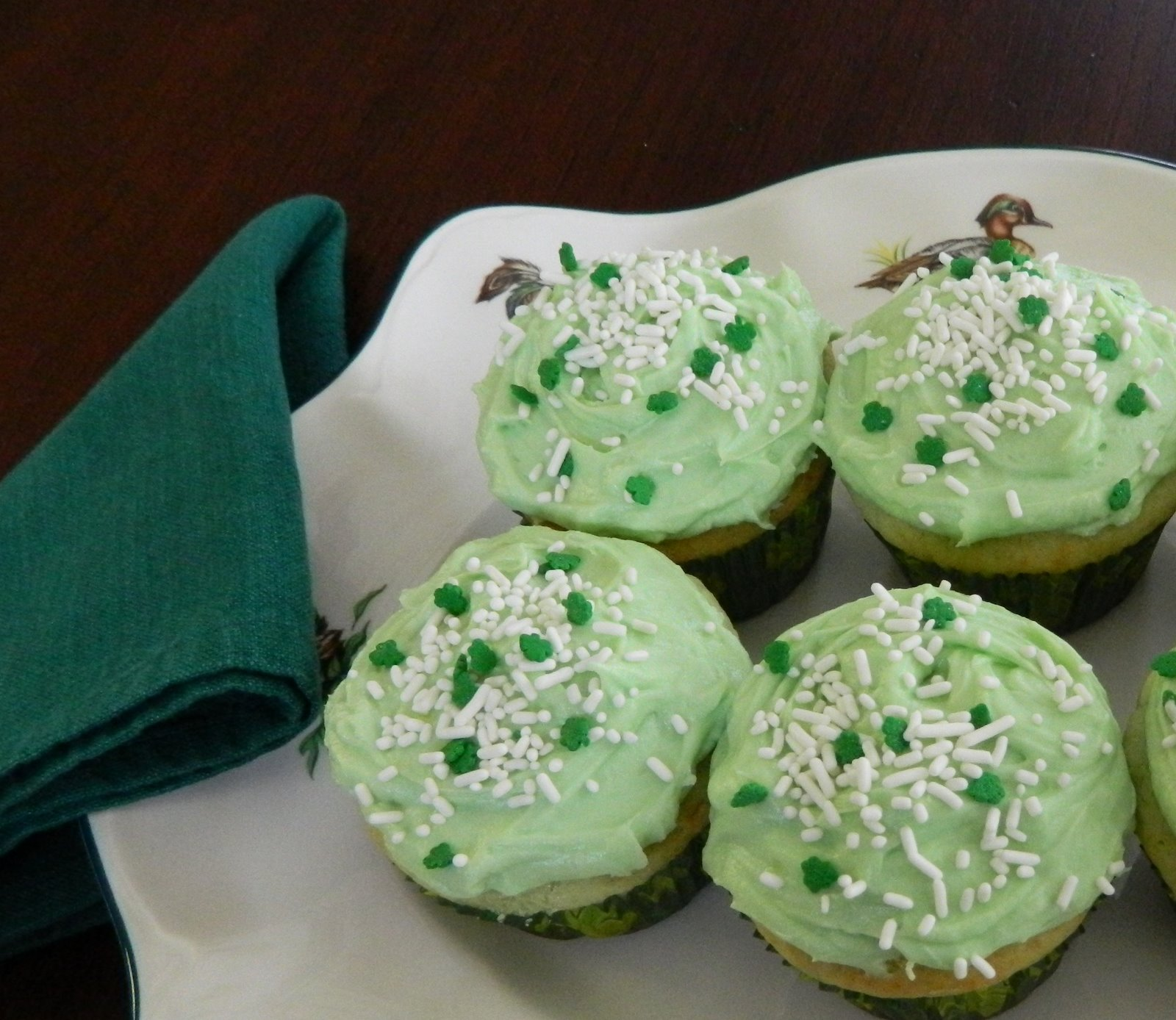 Sugar Spice and Spilled Milk: Pistachio Cupcakes for St ...