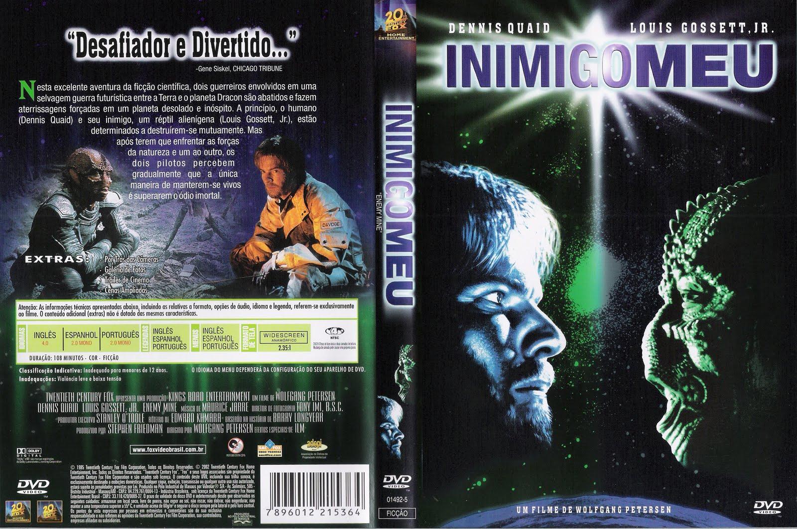 Inimigo Meu DVD Capa