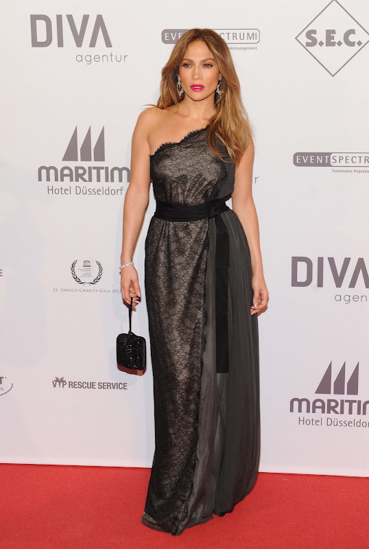 Jennifer Lopez at 2012 UNESCO Charity Gala red carpet