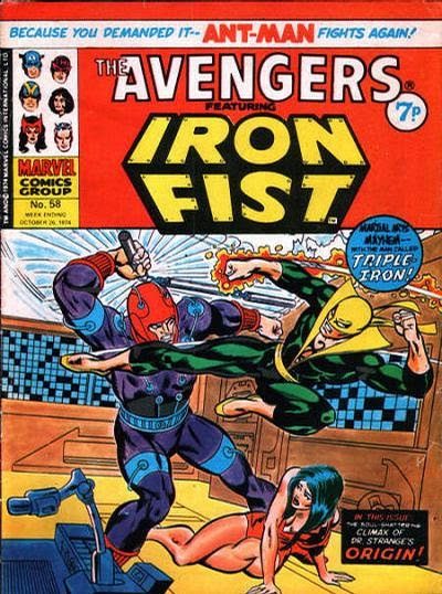 Marvel UK Avengers #58, Iron Fist