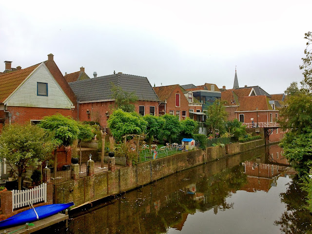 Picture of the Damsterdiep in Appingedam, Groningen.