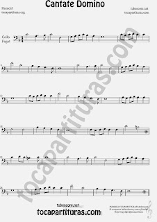 Cantate Domino Partitura de Violonchelo y Fagot Sheet Music for Cello and Bassoon Music Scores