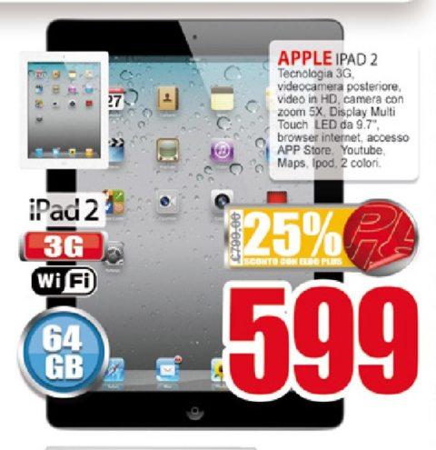 Sconto di oltre 200 euro sul Tablet Apple di seconda generazione