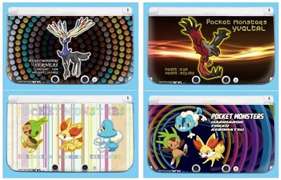 Chespin Fennekin Froakie Xerneas Yveltal 3DS LL Changeable Hard Cover Jupiter
