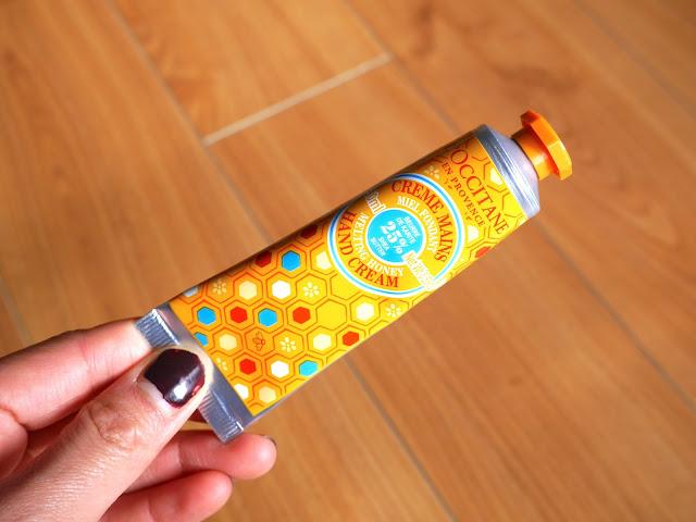 L'occitane melting honey body scrub and  hand cream, review