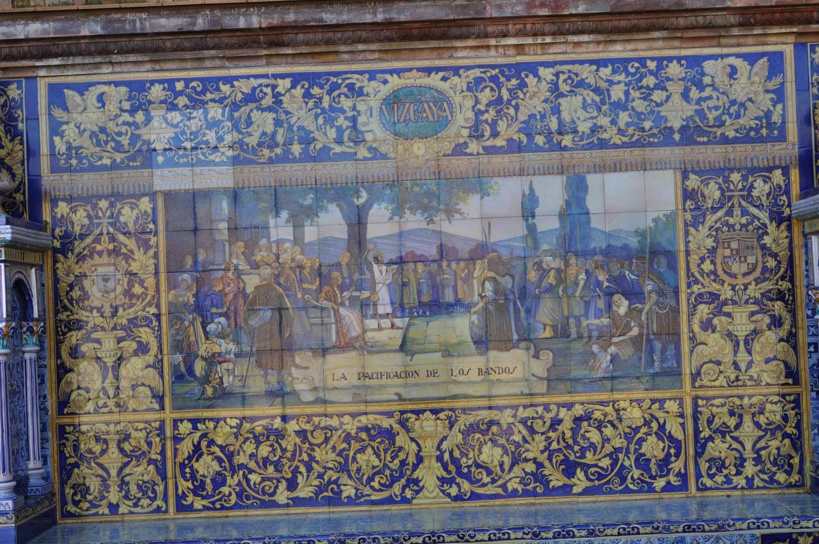 Mis fotos azulejos plaza de espa a sevilla for Azulejos antiguos sevilla