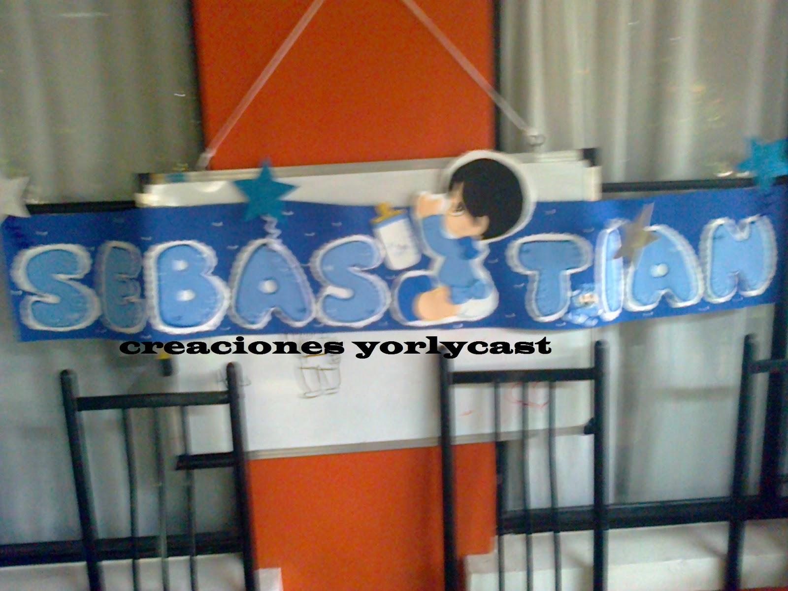 Creaciones Yorlycast: Decoracion Baby shower niño