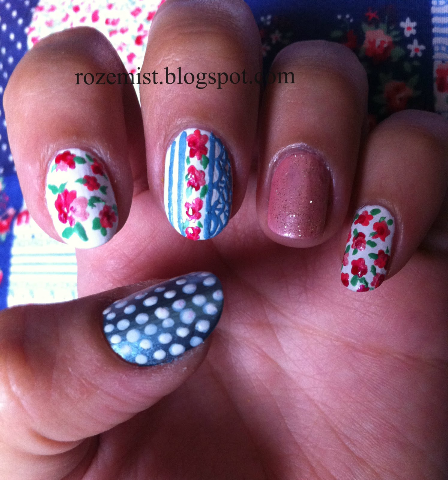 Nail arts by Rozemist: Cath Kidston/Vintage Inspired ...