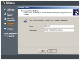 Tampilan Personalize Your Software