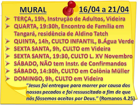 MURAL DA SEMANA - 16/04/2019