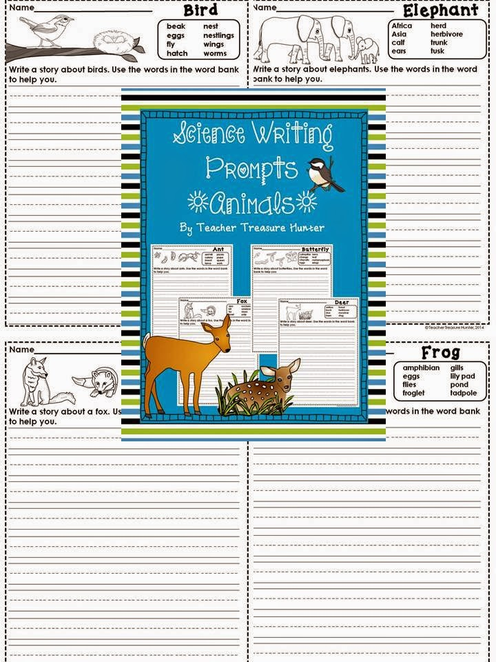 http://www.teacherspayteachers.com/Product/FREEBIE-This-weekend-only-Science-Writing-Prompts-ANIMALS-1253174