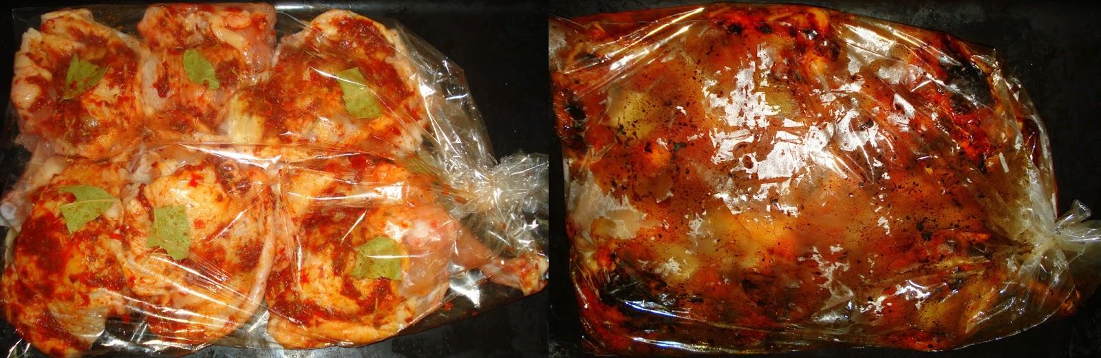 Fırın Torbasında Sebzeli Tavuk Tarifi