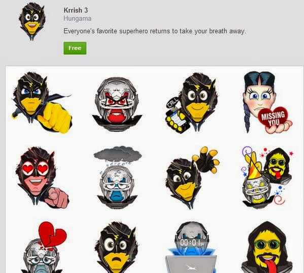 Krrish 3 First Indian Movie to Launch Facebook Emoticons/Stickers!
