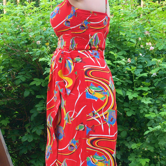 1950's rayon Alfred Shaheen tropical