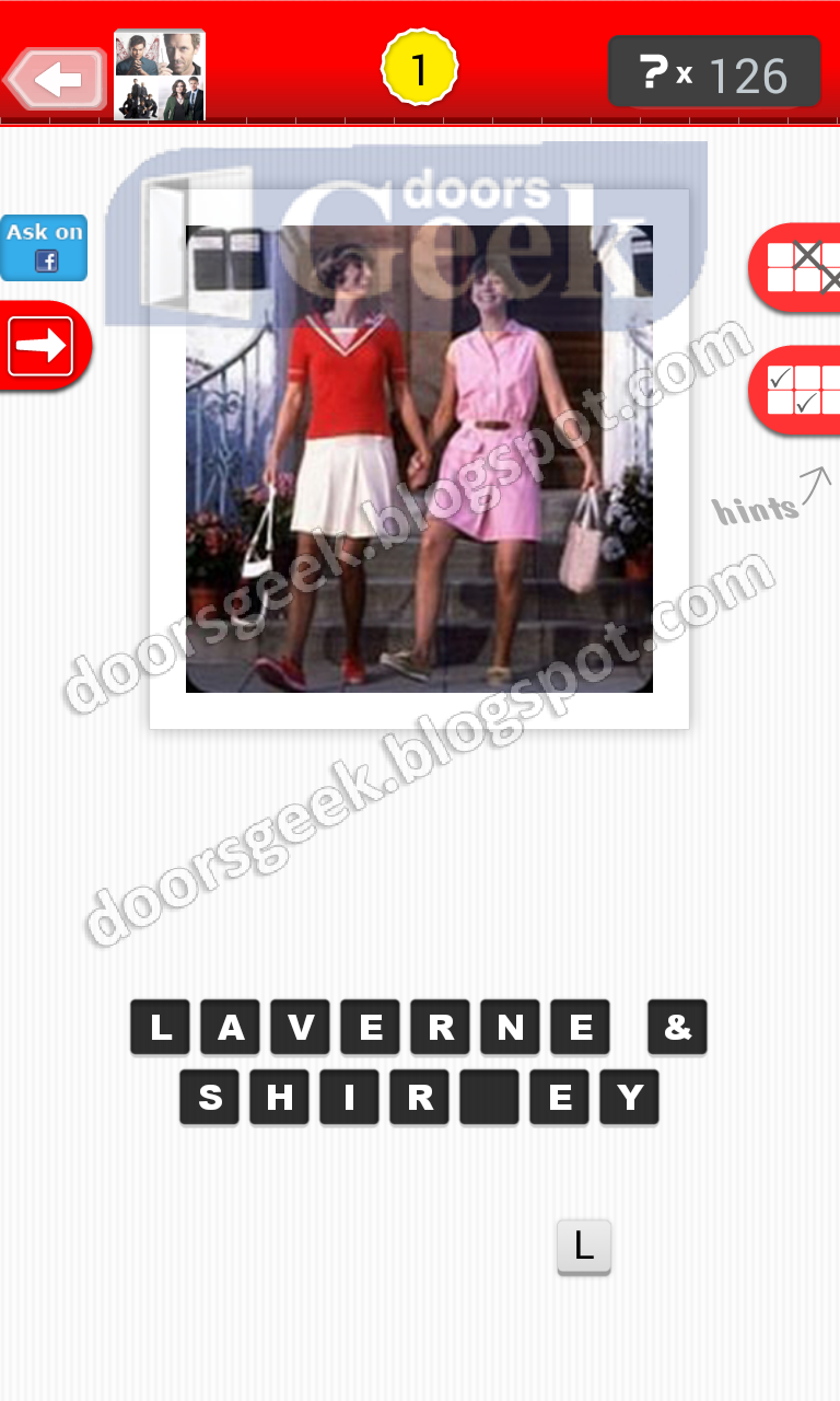 answer laverne shirley guess the tv show level 26 1 answer cheats