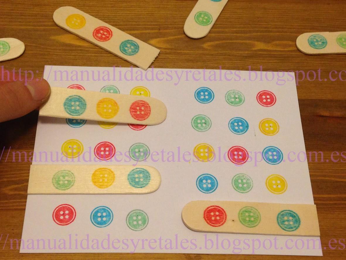 juego de logica para nios material necesario cartulina blanca palitos de helado o depresores pegatinas de colores o circulos de goma eva