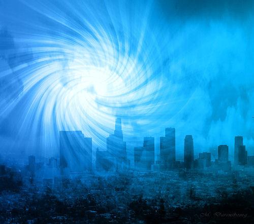 Portal de luz em 2012, alcyone luz azul, iluminação