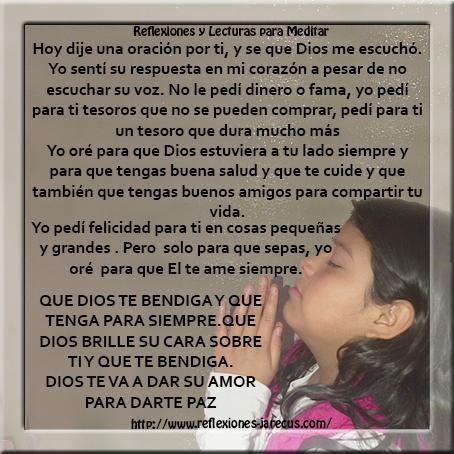 Oraciones, Oración para mi amiga,