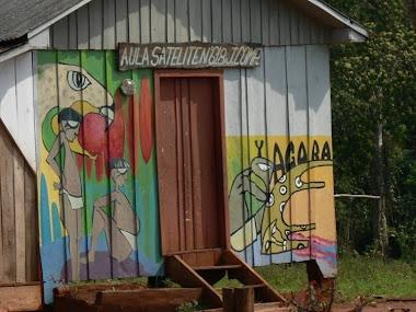 Mural de Carlos Nievas en la Escuela vecina de Colonia Pepirí