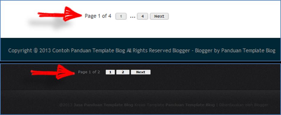 Cara Membuat Nomer Halaman Blog