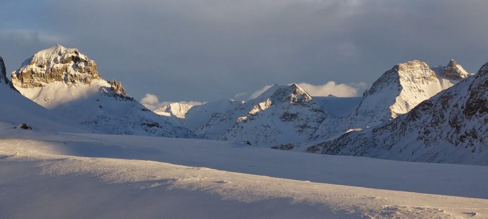Col de la Vanoise, lumière du soir.