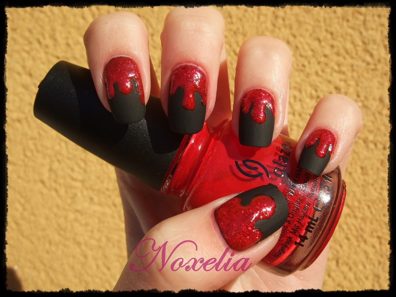 Noxelia: Stamping nail art: Look de uñas Nº 278. Reto Colores Rojo