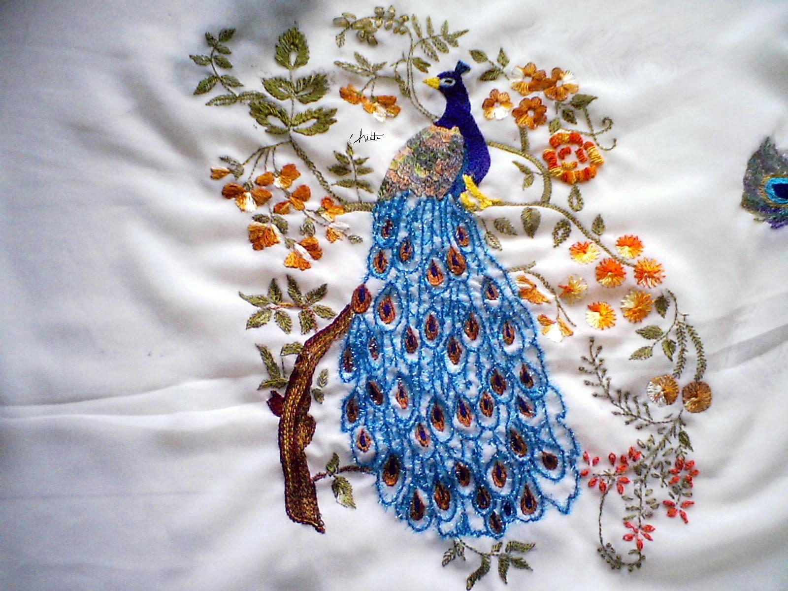 Sadala39s Embroidery PeacockMy Dream Project