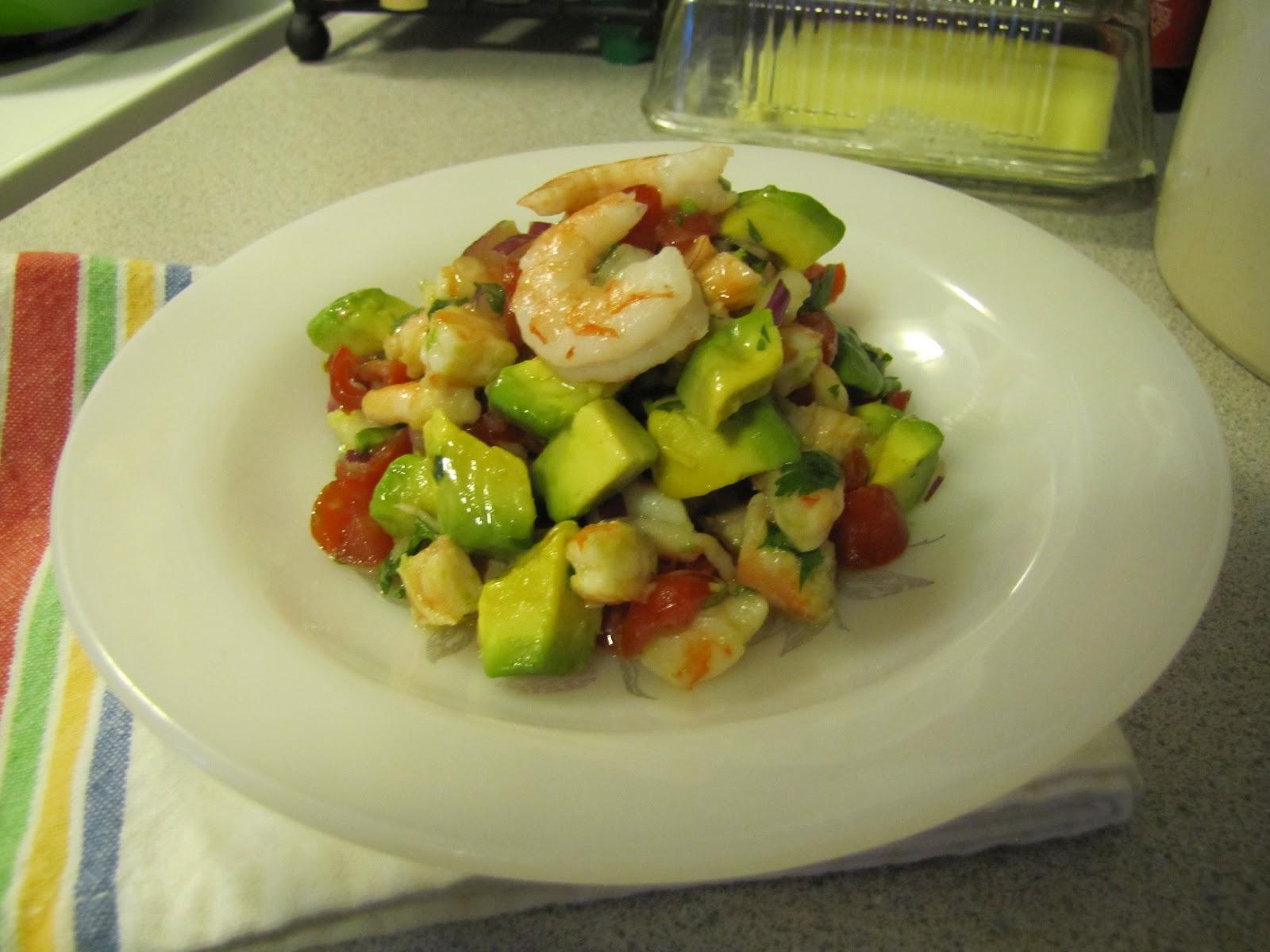 Low-Carb Living ~ Zesty Lime Shrimp & Avocado Salad ~ Faithfulness ...