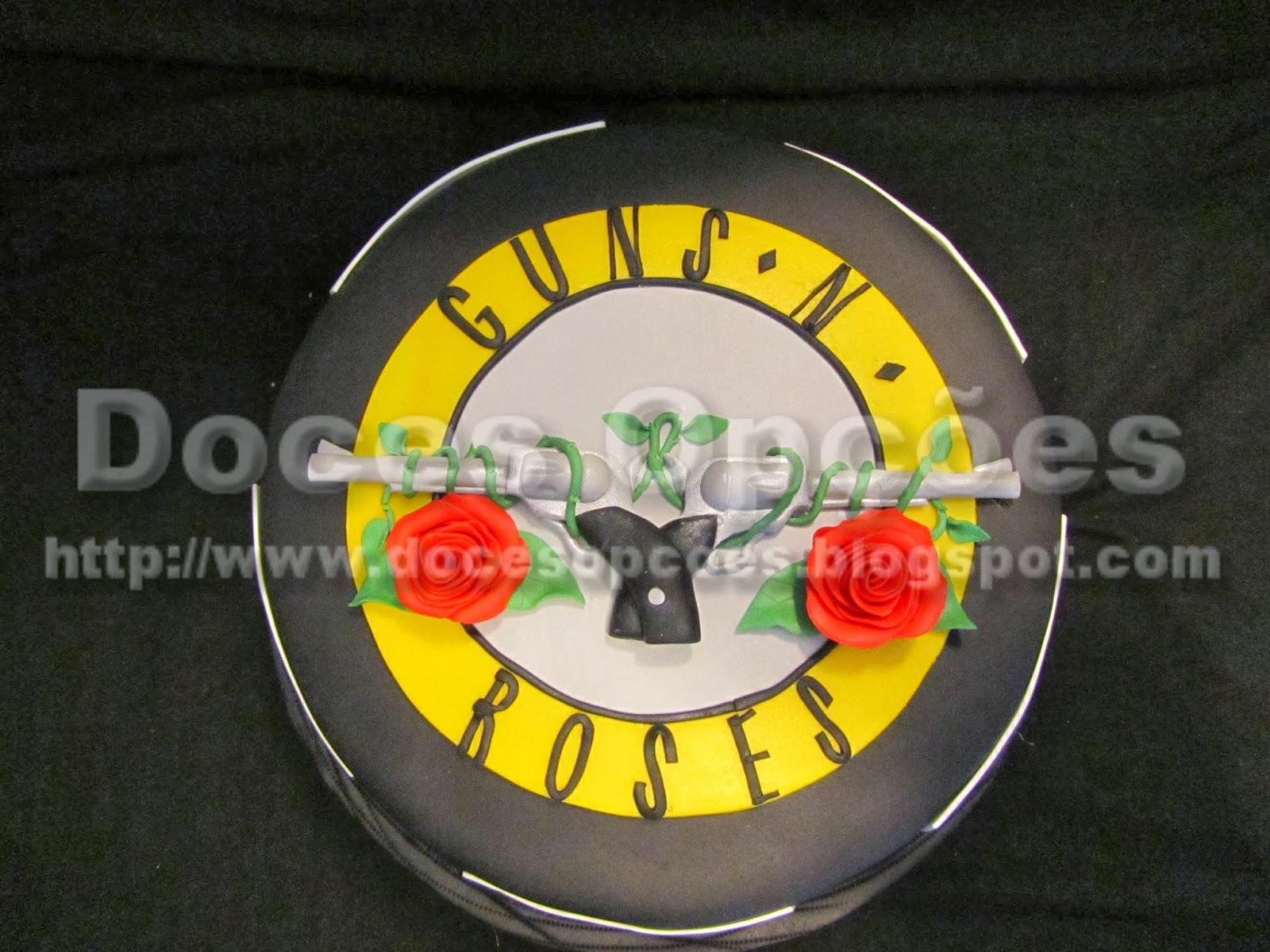 Bolo aniversário Guns N' Roses