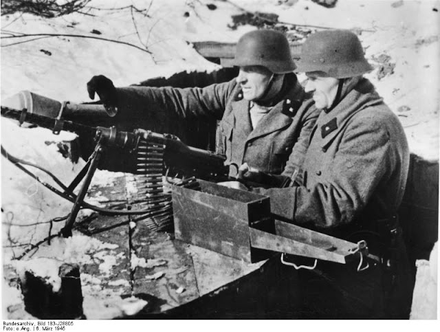 March 1945. Old men  Volksstrum defend Koenigsberg